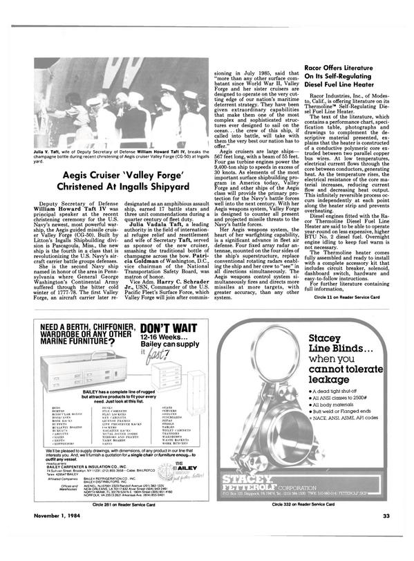 Maritime Reporter Magazine, page 29,  Nov 1984
