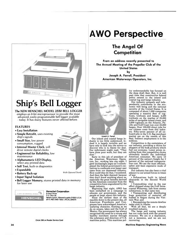 Maritime Reporter Magazine, page 30,  Nov 1984