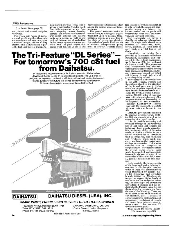 Maritime Reporter Magazine, page 32,  Nov 1984