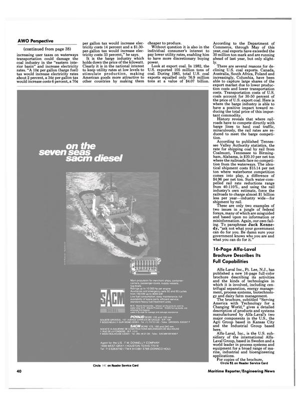 Maritime Reporter Magazine, page 36,  Nov 1984