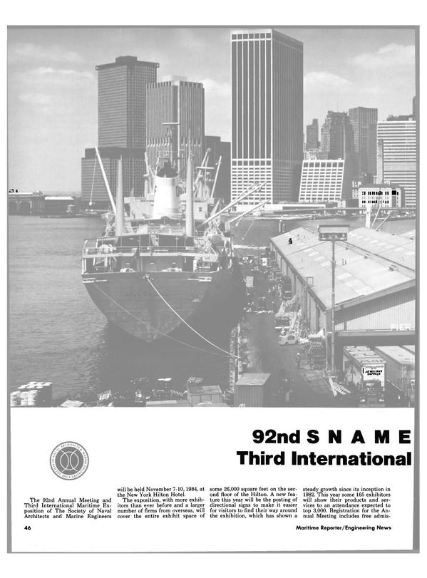 Maritime Reporter Magazine, page 42,  Nov 1984
