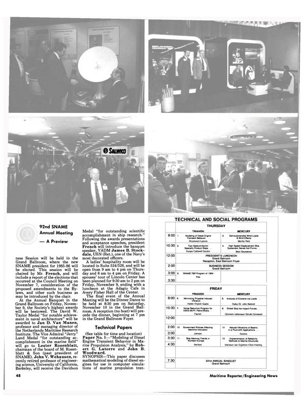 Maritime Reporter Magazine, page 44,  Nov 1984