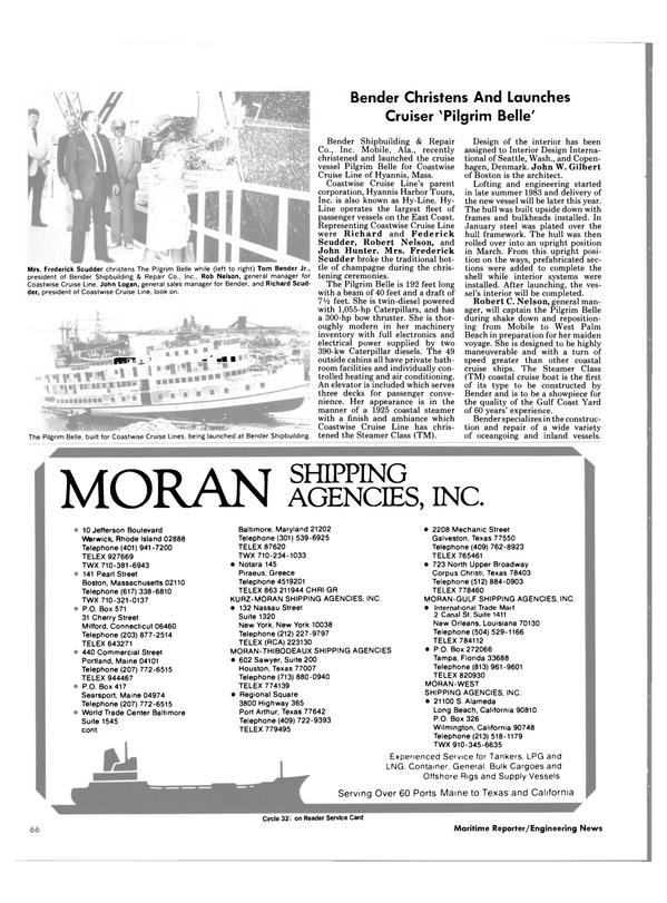 Maritime Reporter Magazine, page 62,  Nov 1984