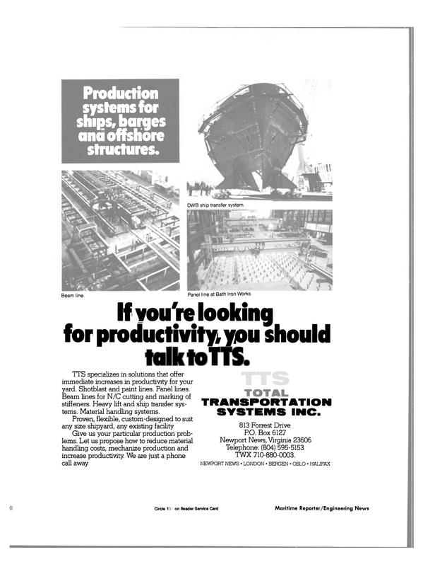 Maritime Reporter Magazine, page 66,  Nov 1984