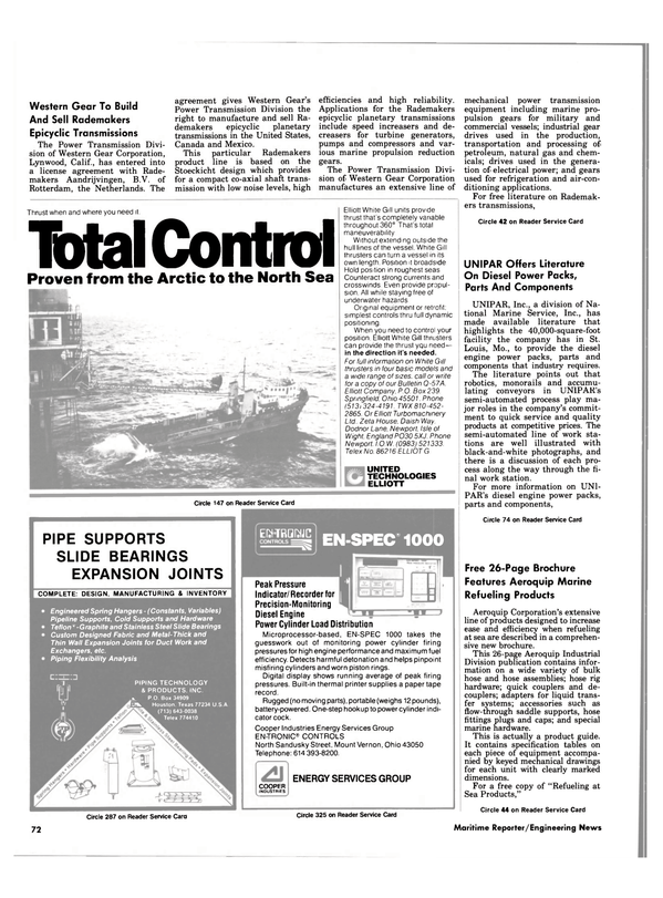 Maritime Reporter Magazine, page 68,  Nov 1984