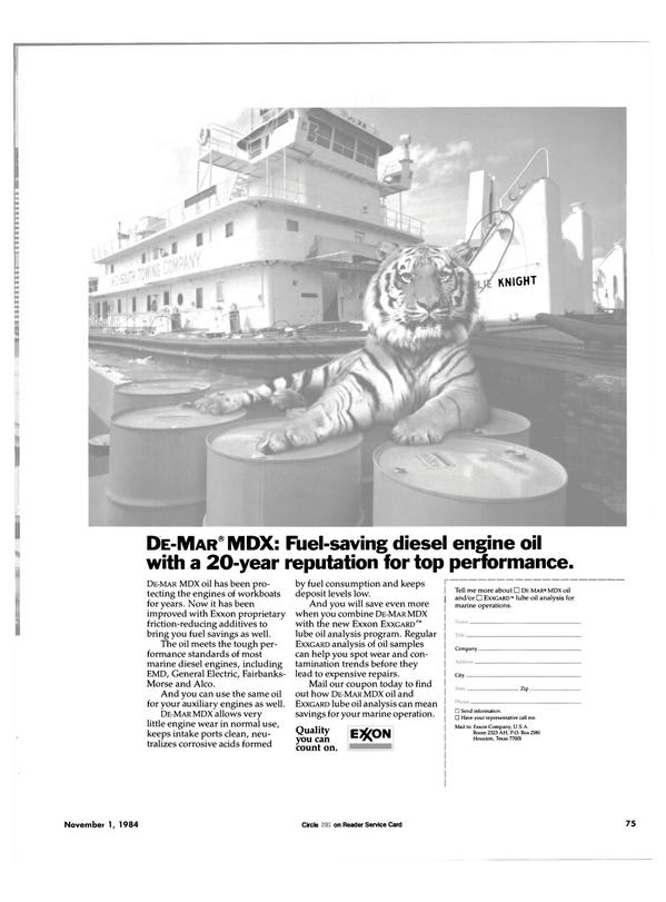 Maritime Reporter Magazine, page 71,  Nov 1984