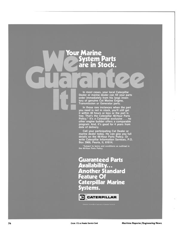 Maritime Reporter Magazine, page 72,  Nov 1984