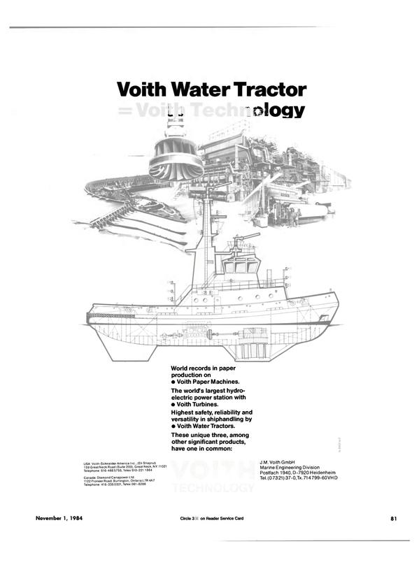 Maritime Reporter Magazine, page 77,  Nov 1984
