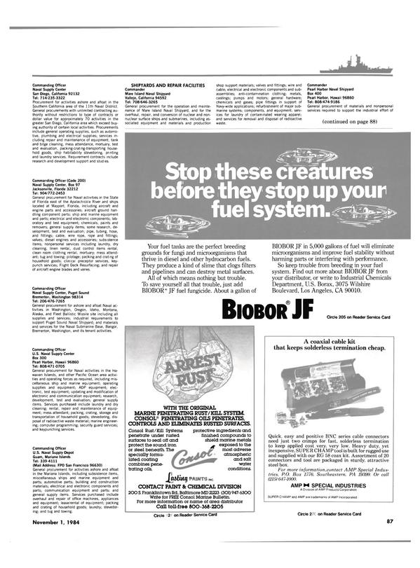 Maritime Reporter Magazine, page 83,  Nov 1984