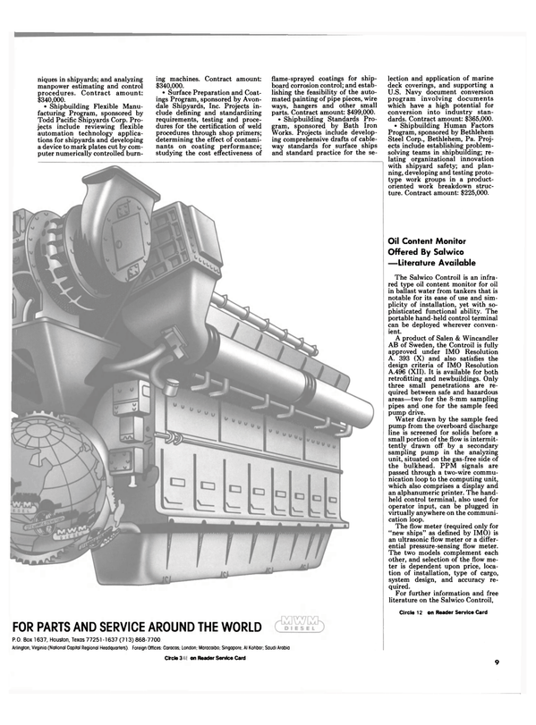 Maritime Reporter Magazine, page 7,  Nov 1984