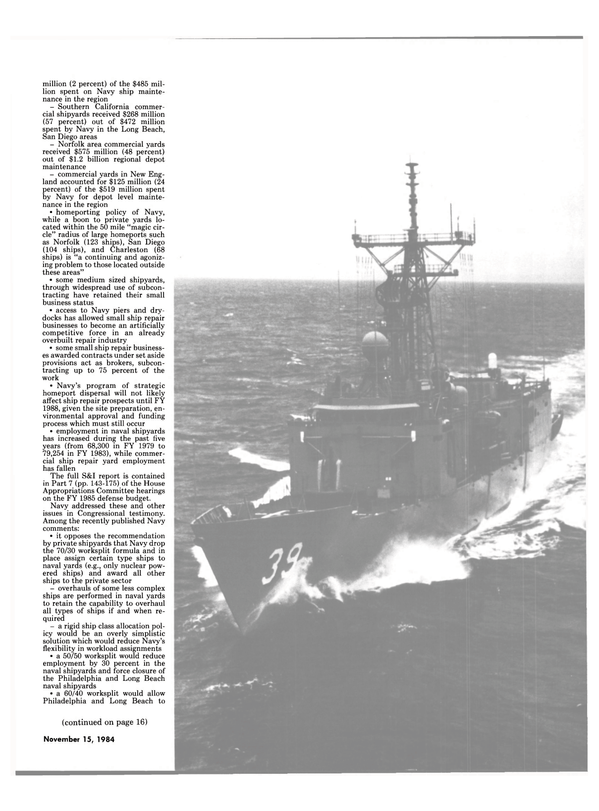 Maritime Reporter Magazine, page 11,  Nov 15, 1984 House Appropriations Committee