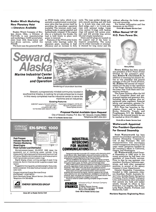Maritime Reporter Magazine, page 6,  Nov 15, 1984 New York