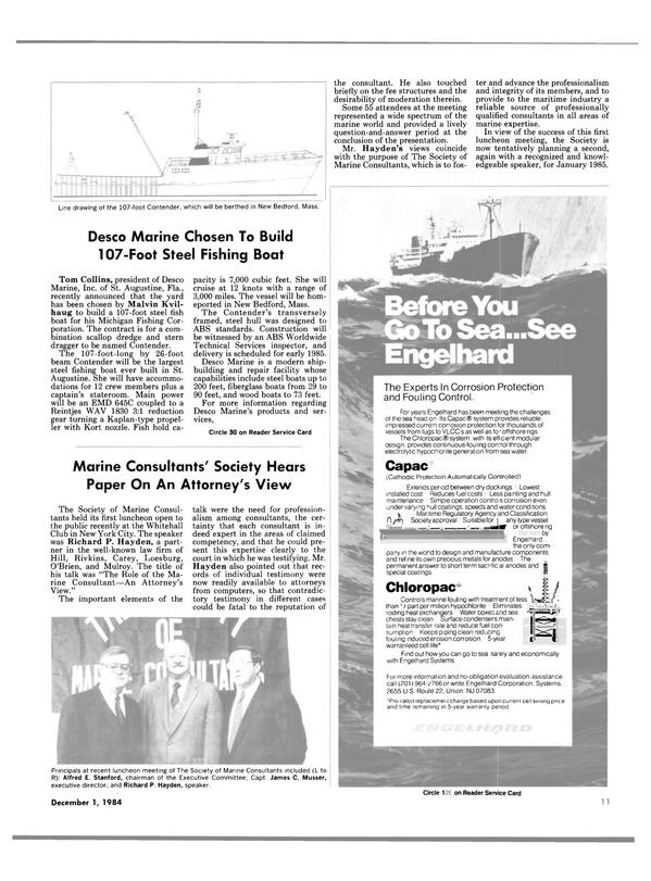 Maritime Reporter Magazine, page 9,  Dec 1984