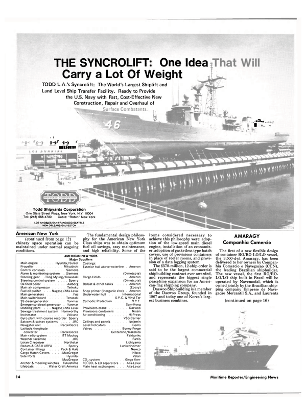 Maritime Reporter Magazine, page 12,  Dec 1984 United States Navy