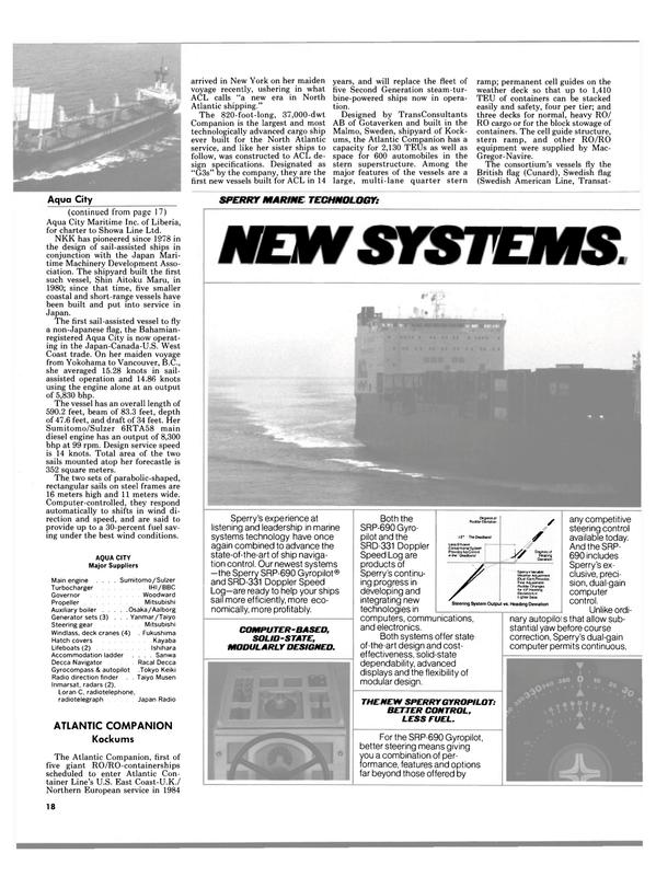 Maritime Reporter Magazine, page 16,  Dec 1984 US East Coast