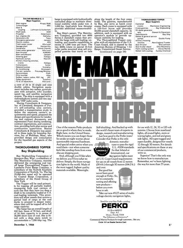 Maritime Reporter Magazine, page 37,  Dec 1984