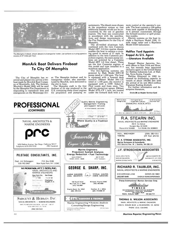 Maritime Reporter Magazine, page 44,  Dec 1984 Washington
