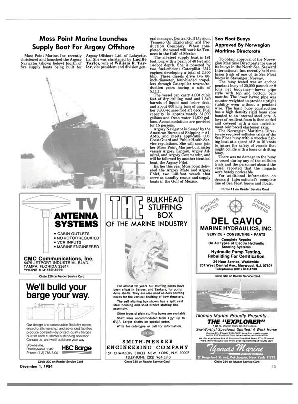 Maritime Reporter Magazine, page 45,  Dec 1984