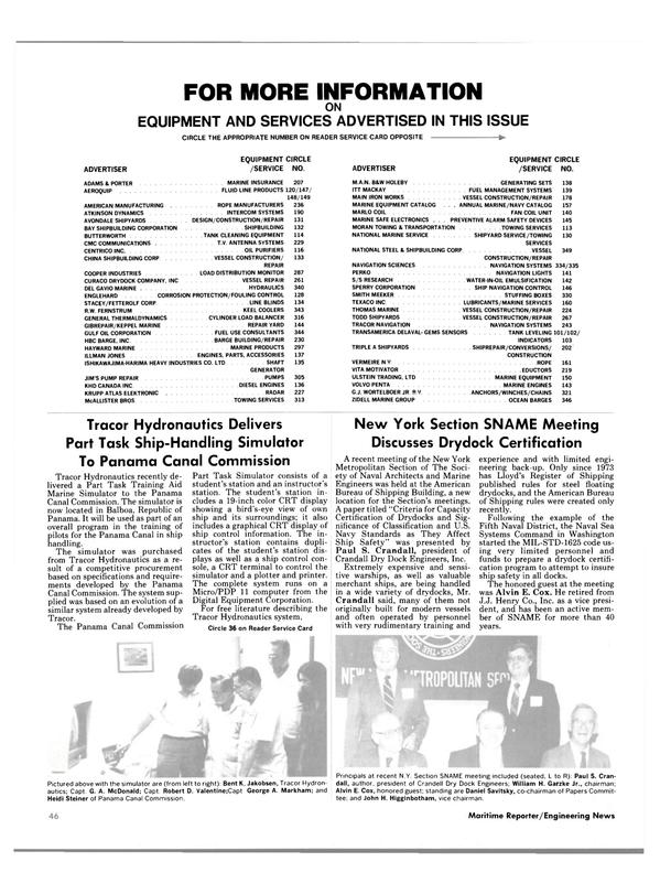 Maritime Reporter Magazine, page 46,  Dec 1984