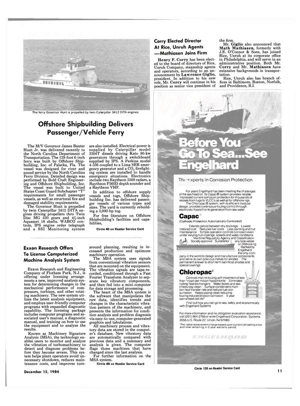 Maritime Reporter Magazine, page 9,  Dec 15, 1984