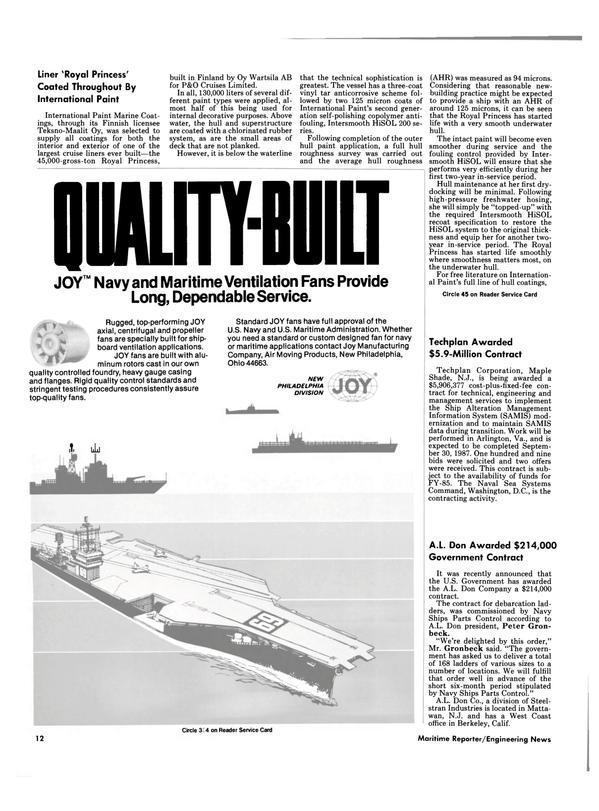 Maritime Reporter Magazine, page 10,  Dec 15, 1984 Virginia
