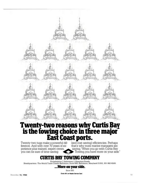 Maritime Reporter Magazine, page 13,  Dec 15, 1984 Hampton Roads Headquarters