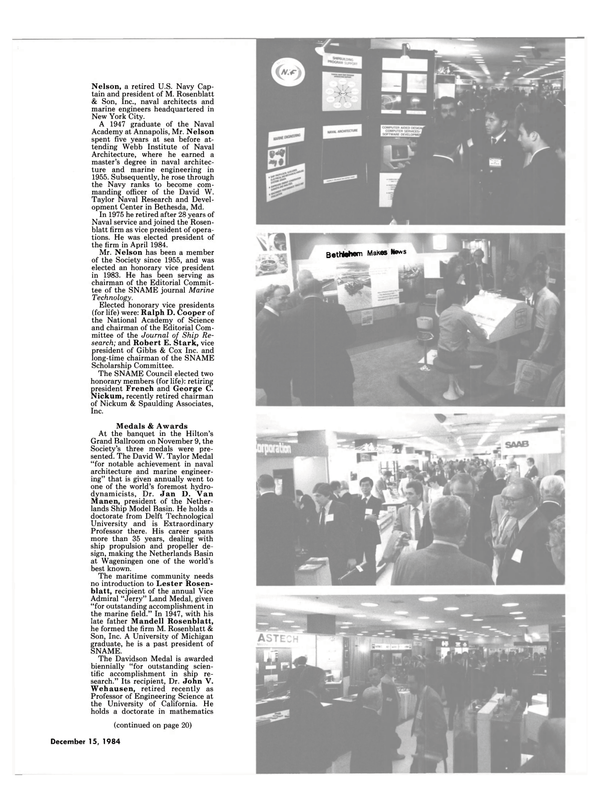 Maritime Reporter Magazine, page 17,  Dec 15, 1984