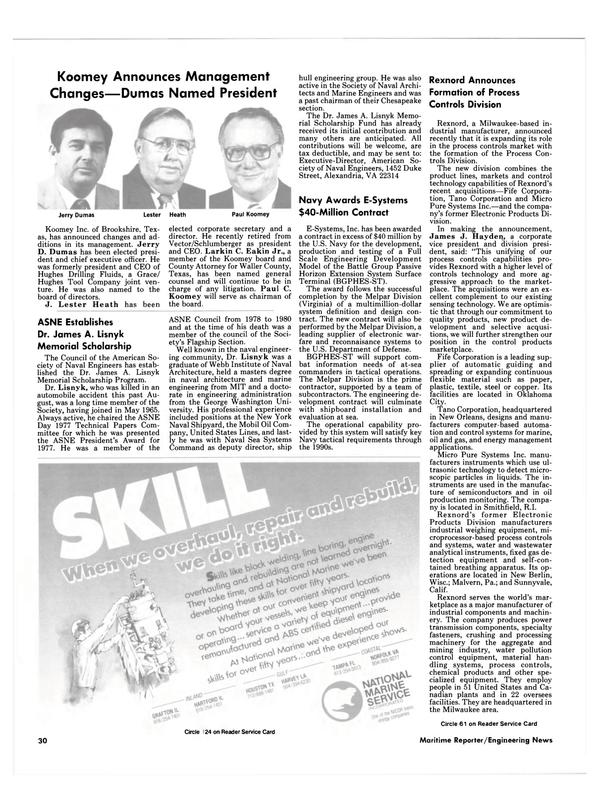 Maritime Reporter Magazine, page 28,  Dec 15, 1984