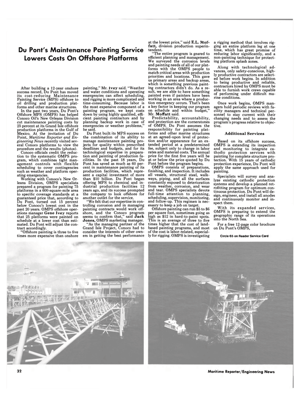 Maritime Reporter Magazine, page 30,  Dec 15, 1984