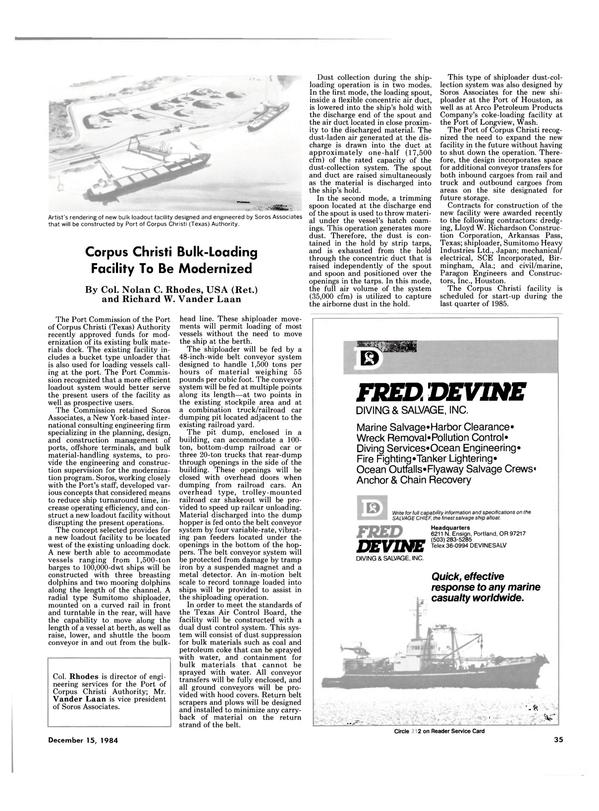 Maritime Reporter Magazine, page 33,  Dec 15, 1984