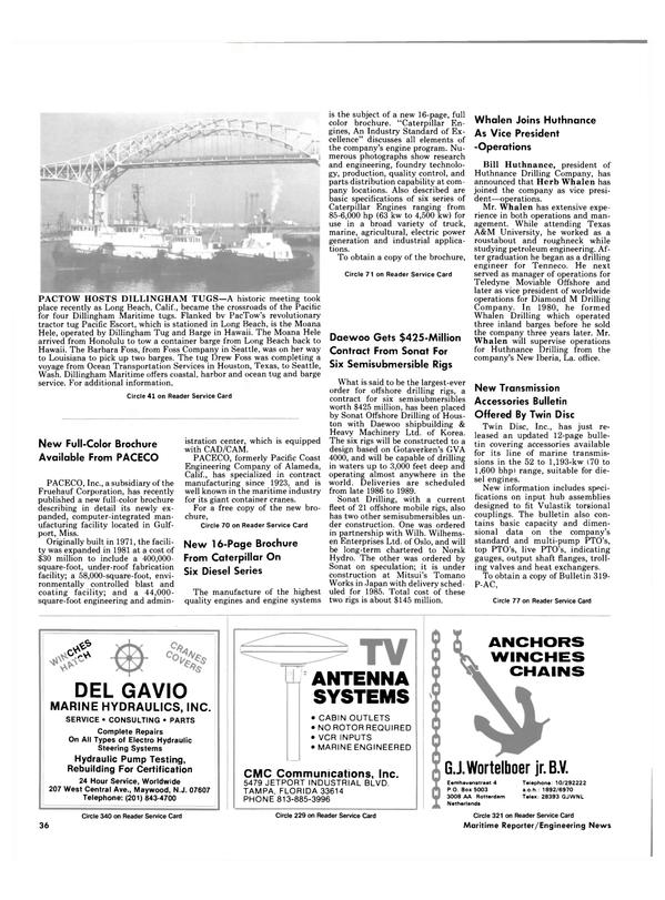 Maritime Reporter Magazine, page 34,  Dec 15, 1984