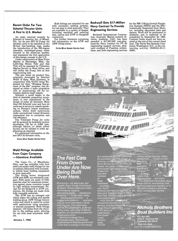 Maritime Reporter Magazine, page 11,  Jan 1985