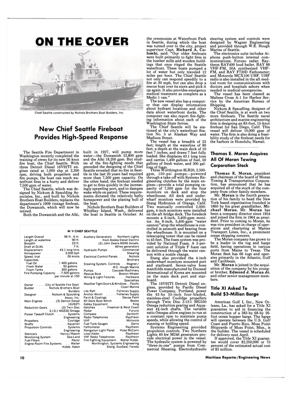 Maritime Reporter Magazine, page 8,  Jan 15, 1985