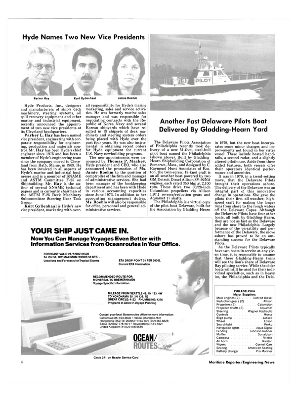 Maritime Reporter Magazine, page 4,  Jan 15, 1985 Johnson Rubber Muffler
