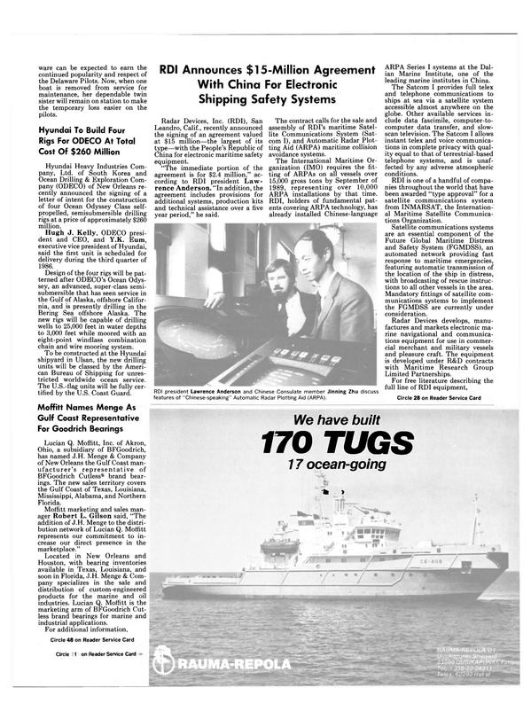 Maritime Reporter Magazine, page 5,  Jan 15, 1985