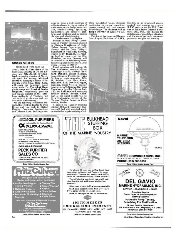 Maritime Reporter Magazine, page 12,  Feb 15, 1985 Maryland