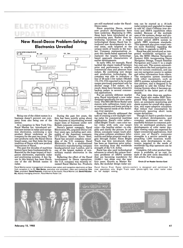 Maritime Reporter Magazine, page 41,  Feb 15, 1985 Bob Burns