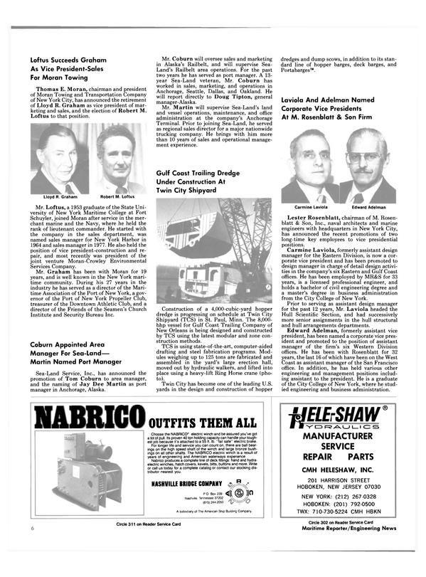 Maritime Reporter Magazine, page 4,  Feb 15, 1985