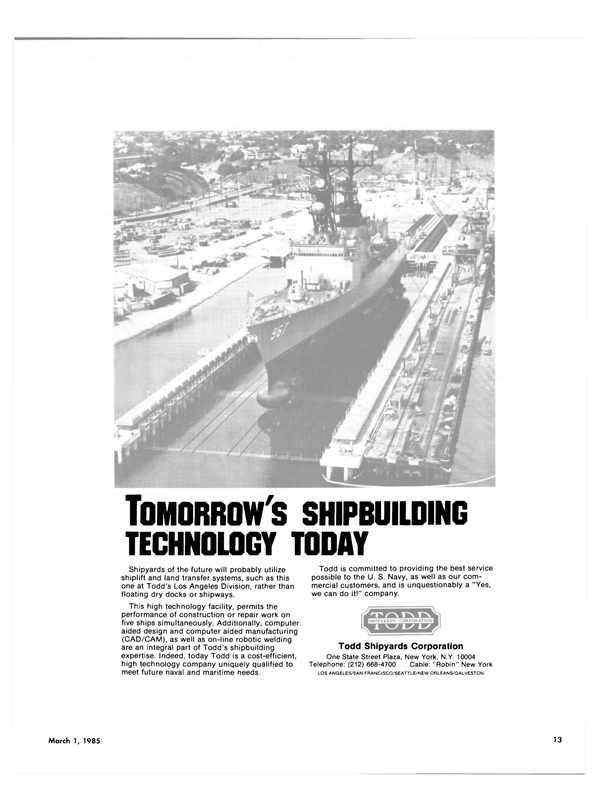 Maritime Reporter Magazine, page 11,  Mar 1985