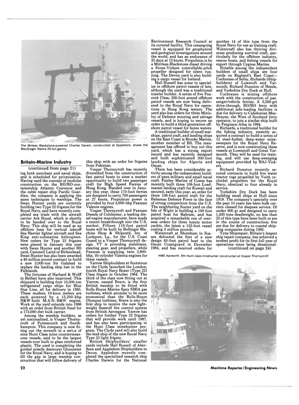 Maritime Reporter Magazine, page 20,  Mar 1985 Sea Harrier