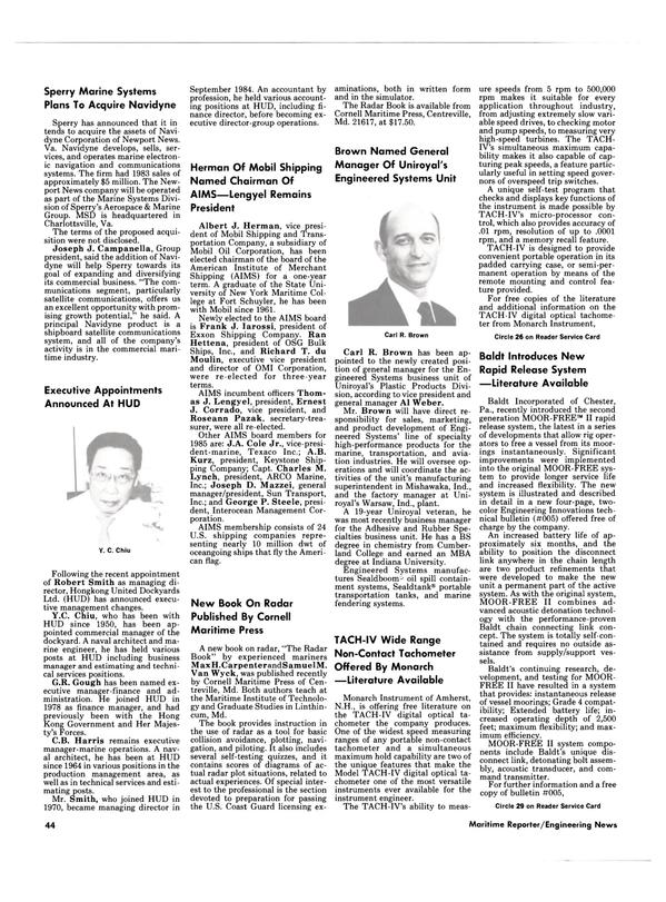 Maritime Reporter Magazine, page 42,  Mar 1985 New Hampshire