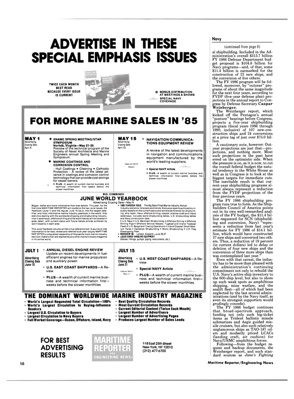 Maritime Reporter Magazine, page 8,  Mar 15, 1985