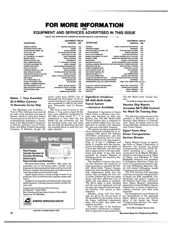 Maritime Reporter Magazine, page 40,  Mar 15, 1985 California