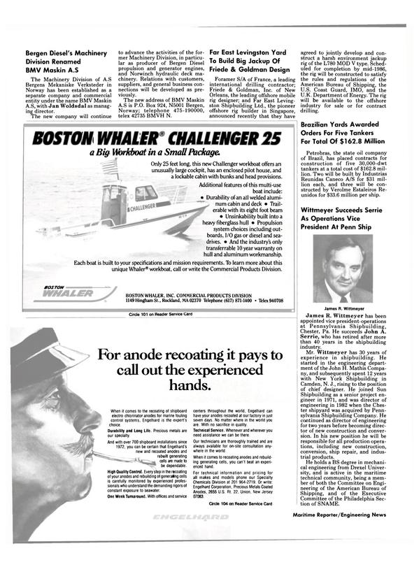 Maritime Reporter Magazine, page 4,  Mar 15, 1985