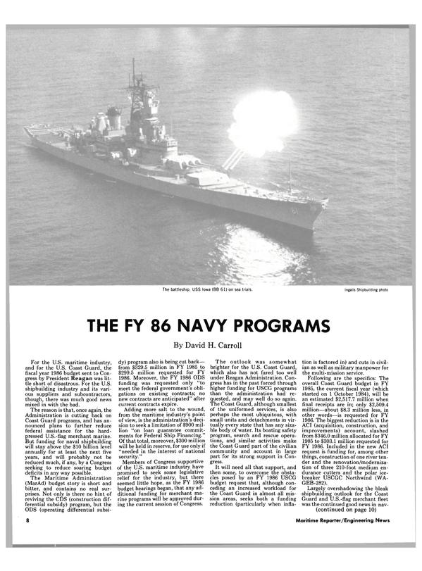 Maritime Reporter Magazine, page 6,  Mar 15, 1985