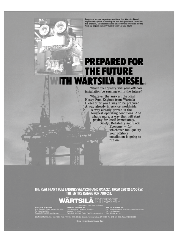 Maritime Reporter Magazine, page 7,  Mar 15, 1985 Singapore