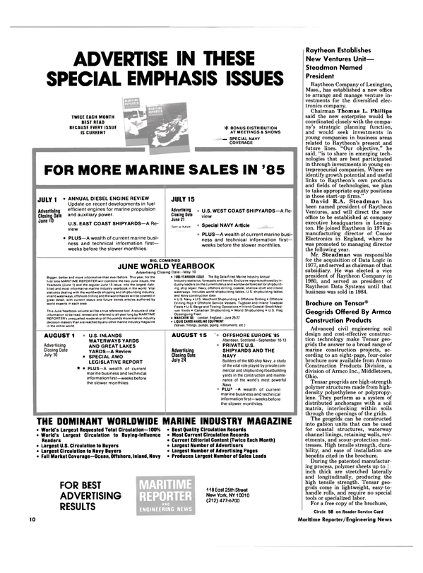 Maritime Reporter Magazine, page 8,  May 1985 Ohio