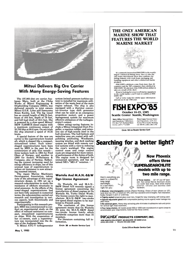 Maritime Reporter Magazine, page 9,  May 1985
