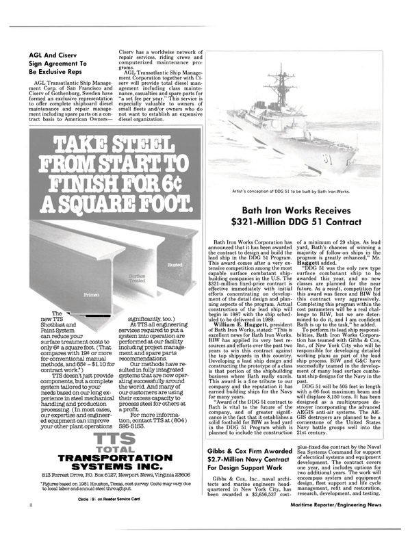 Maritime Reporter Magazine, page 6,  May 1985 Naval Sea Systems Command