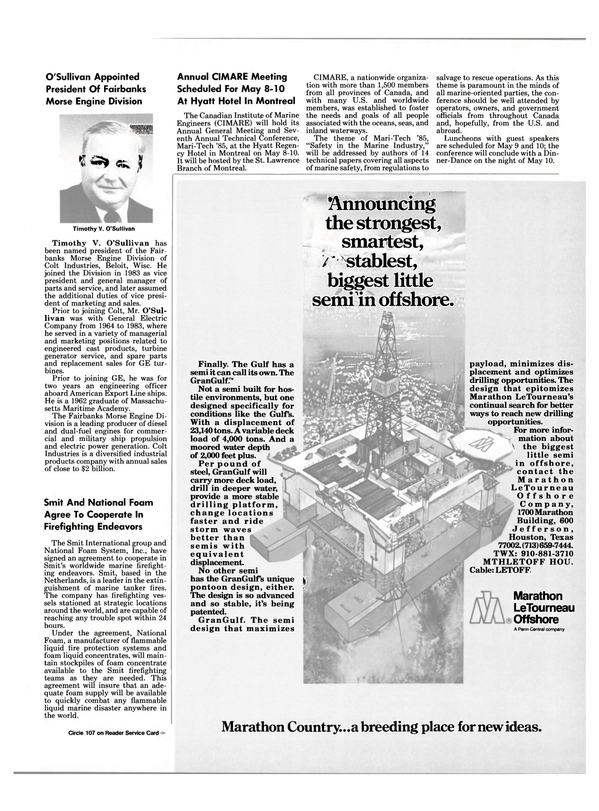 Maritime Reporter Magazine, page 7,  May 1985